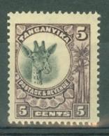 Tanganyika: 1922/24   Giraffe    SG74     5c    MH - Kenya, Uganda & Tanganyika