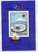 HUNGARY 1964 Olympic Games: Tokyo Imperforate Block MNH / **.  Michel Block 43B - Blocks & Sheetlets