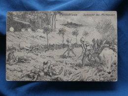 Illustration  Feldskizze  Schlacht Bei Mulhausen 10 August 1914  - Circulée - R142 - Oorlog 1914-18