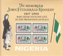 1964 Nigeria JFK Joihn F Kennedy Miniature Sheet Of 4 MNH