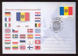 Moldova 2017 25 Years Of Diplomatic Relations  Moldova- Austria  Special Cancellation - Moldova