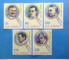 1979 SAN MARINO FRANCOBOLLI NUOVI STAMPS NEW MNH** - INVESTIGATORI LETTERATURA POLIZIESCA - - San Marino