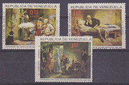 Venezuela 1963 Paintings Arturo Michelena 3v ** Mnh (35232) - Venezuela