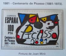 PABLO PICASSO 1981 - NEUF ** - YT 2237 - MI 2493 - 1931-Aujourd'hui: II. République - ....Juan Carlos I