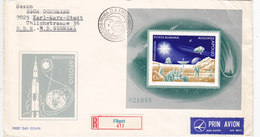 Romania 1972, Souvenir Sheetr Apollo Compl.set On Registered FDC Illustr. Nice Space Cover - Fine.Red. Price-SKRILL PAY. - Cartas