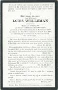 Doodsprentje: WULLEMAN Louis: ° Alveringem, 1832 Aldaar + 1904. Zoon Van Charles En Amelia Groensteen - Religión & Esoterismo