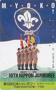 Télécarte Japon / 110-92310 - SCOUTISME - SCOUTING SCOUT Japan Phonecard  - PFADFINDER Telefonkarte - 145 - Advertising