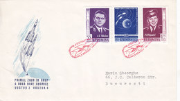 Romania 1962, Vostock 4,flight 3 Stamps Compl.set On Official FDC- Fine Condit.nice Space Cover-Red.Pr. SKRILL PAY. - Covers & Documents
