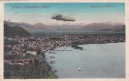 Bregenz Am Bodensee - Zeppelins Luftschiff über Bregenz (20464) * Karte Von 1910 * 9. XII. 1912 - Bregenz