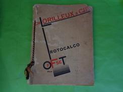 CATALOGUE D´IMPRIMERIE : CH. LORILLEUX & Cie / ENCRES D´IMPRIMERIE Illustrateur S Commarmond - 1900 – 1949