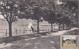 """Bregenz - Gondelhafen (7) * Karte Von 1906 * 12. VIII. 1910 * Zusatzmarke """"Baustein"""" - Bregenz"""