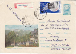 Romania Com.Registr.cover 1963, Franked Mariner 4 ,verso Scan- Nice Space Cover - Red. Price - SKRILL Pay. - Covers & Documents