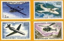 """France**LUXE 1960 Pa 38 à 41 Série 4v, Les Prototypes (en Nouveaux Francs), Vf 2,oo F. Nord-Aviation """"Noratlas"""" (type N° - 1960-.... Ungebraucht"""