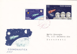 Romania 1965, Voshod ,2 Space Stamps ,on Official FDC- Nice Condit -Space Cover- Red. Pri. Skrill Pay. - Covers & Documents
