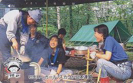 Télécarte Japon / 110-87420 - SCOUTISME - SCOUTING - GIRL SCOUT Japan Phonecard - PFADFINDER Telefonkarte - 146 - Characters