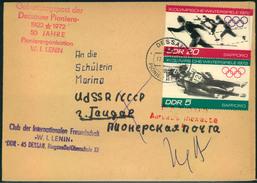 1972, Geburtstagspost Der Dessauer Pioniere In Die UdSSR  Mit Stempel DESSAU PIONIER-POSTAMT - DDR