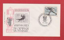 Autriche  --  Winterspiele 1964  -  Innsbruck  --  27/1/1964 - FDC
