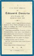 Doodsprentje: DECORTE Edouard: Né 1927 Décédé 1933 - Religion & Esotericism