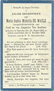 Doodsprentje: DE WAELE Maria Sophia Michella: ° Hamme, 1919 Aldaar + 1926. Dochter Van Jozef En Jasparine VAN GOETHEM - Religion & Esotericism