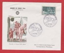 Journée Du Timbres 1964  --  Strasbourg  14/3/1964 - FDC