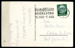 "German Empires,DR Heidelberg 1939  Photo AK,Card Mit MWST""Heidelberg-REICHSFESTSPIELE ""1 AK Used - Alemania"