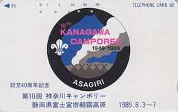 Télécarte Japon / 290-10089 - SCOUTISME - SCOUTING - KANAGAWA CAMPOREE 1989 - SCOUT Japan Phonecard - PFADFINDER TK  149 - Japan