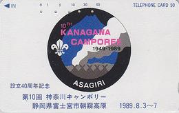 Télécarte Japon / 290-10089 - SCOUTISME - SCOUTING - KANAGAWA CAMPOREE 1989 - SCOUT Japan Phonecard - PFADFINDER TK  149 - Advertising