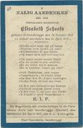 Doodsprentje: SCHOOFS Elisabeth: ° Gentbrugge, 1915 Aldaar + 1917 - Religión & Esoterismo
