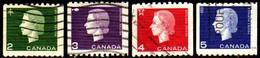 05732 Canada 329a/32a Rainha Elizabeth U - 1952-.... Reign Of Elizabeth II