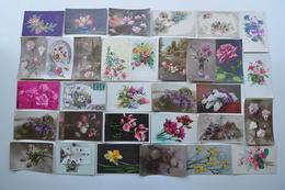 FLEURS /  LOT DE 32 CARTES POSTALES ANCIENNES ET DIFFERENTES - Flowers