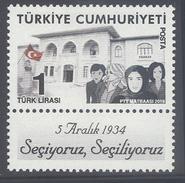 TURKEY, 2016, MNH, WOMEN'S RIGHTS, 1v - Porcelain