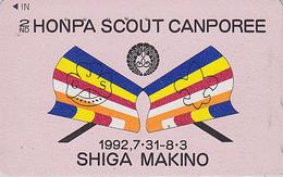 RARE Télécarte Japon / 110-011 - SCOUTISME - SCOUTING - HONPA MAKINO SCOUT CAMPOREE Japan Phonecard - PFADFINDER TK 152 - Advertising