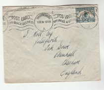 1939 SOUTH AFRICA Stamps COVER SLOGAN Pmk Post Early For Quick Delivery - South Africa (...-1961)