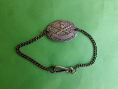 Bracelet  Et Plaque Guerre De 14 - Army & War
