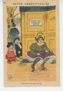HUMOUR - Jolie Carte Fantaisie Enfants Observant Une Femme Qui Fait Pipi Devant Des Toilettes Fermées - Humour