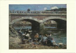 Eugene Boudin Washerwoman Banks Of Touques Oil On Panel Carte Postale Postcard - Royaume-Uni