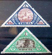 TANNU TUVA 1927 18k,28k Sheep Herding , Landscape Mint No Gum Scott23,24 CV$18 - Tuva
