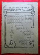 Fascicolo I (senza Fogli All'interno) ATLANTE STRADALE D'ITALIA Touring Club Italiano 1923-26 (Dir. L. V. Bertarelli) - Carte Stradali