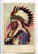 C   19616   -   Chef Indien  -  A Voyagé De Chicago à Vilvorde Vers 1900 - Indiens De L'Amerique Du Nord