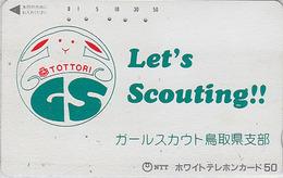 Télécarte Japon / 110-011 - SCOUTISME - SCOUTING - TOTTORI GIRL SCOUT - Japan Phonecard - PFADFINDER TK - 157 - Advertising