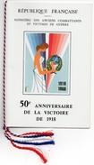 1968 - 50e Anniv.de La Victoire De 1918 - Document Comité Du Souvenir Et Des Manifestations Nationales  (Tp 1571 + 1576) - Sonstige