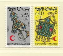 MAROC  ( D18 - 717 )  1971  N° YVERT ET TELLIER      N°  616/617  N** - Maroc (1956-...)