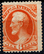 Stamp Us INTERIOR  1873 6c  Lot#52 - Unused Stamps