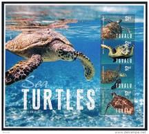 Bloc Sheet Tortue Tortues Turtle Turtles Neuf MNH ** Tuvalu 2014 - Tuvalu