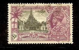 GEORGE V SILVER JUBILEE 8 Annas USED 1935 !! - Indien (...-1947)