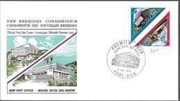 1974 NOUVELLES HEBRIDES  PREMIER JOUR  NOUVEL HOTEL DES POSTES - FDC