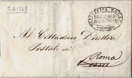 STATO PONTIFICIO - PREFILATELICA DA ROMA 1849 - REPUBBLICA ROMANA - Italia