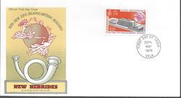 1970 NOUVELLES HEBRIDES  PREMIER JOUR  NEW UPU HEADQARTERS BUILDING - FDC
