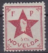 F P NOVELDA, 5 Cts - Viñetas De La Guerra Civil