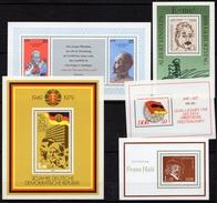 Allemagne - République Démocratique - 5 Blocs (Yvert N° 42-46-51-54-59 ) - Neufs - [6] Oost-Duitsland